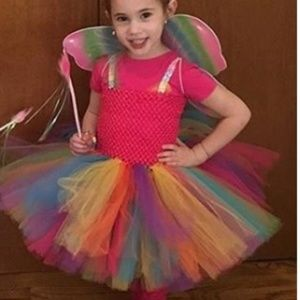 Other - Rainbow tutu fairy butterfly costumes sz 2-3 / 4-5
